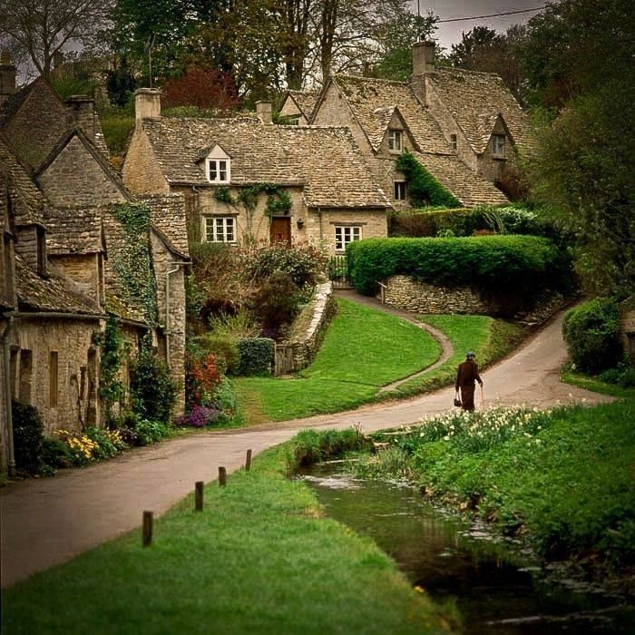 """Bibury-England  ___  Located on the River Coln in hilly west-central England, Bibury was described by 19th-century artist-writer William Morris as """"the most beautiful village in England""""—which is saying something in a country known for its watercolor views. Honey-colored 17th-century stone cottages, the Saxon Church of St. Mary, and a still-working 1902 trout farm are some of the ancient village's must-sees. con't on comment below"""