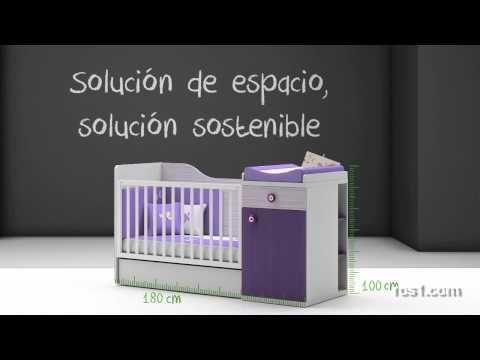 En este video explica de una manera divertida, el proceso de conversión de cuna convertible a cama
