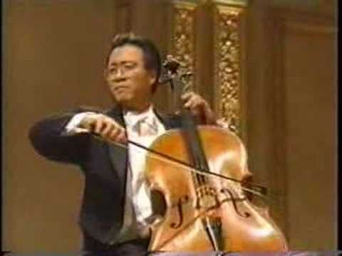 Elgar Cello Concerto, 1st mvmt:   Yo-Yo Ma with Daniel Barenboim and the Chicago SO in this performance from 1997. This concerto will forever be associated with Jaqueline du Pre, but YYM gives a performance that is beyond breathtaking. It is fitting that Barenboim is the conductor; I'm sure he feels this concerto is still in very good hands