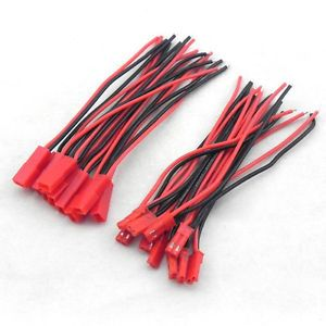 New-Hot-10-Pairs-2-Pin-JST-Plug-Connector-Cable-Wire-Male-Female-100mm