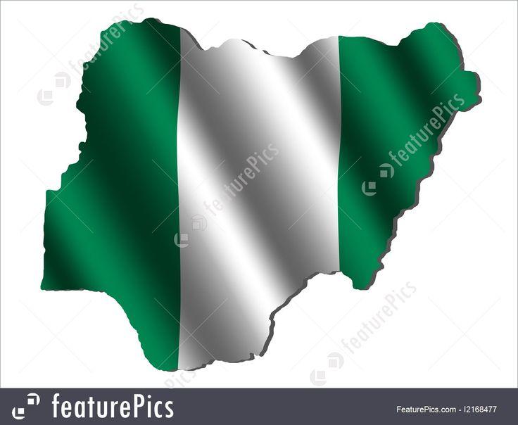 Nigeria map flag