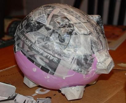 Piggy Bank Craft paper mache