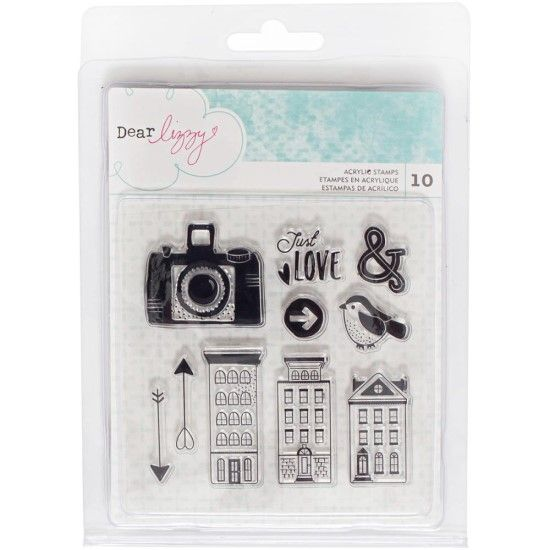 Dear Lizzy Saturday - Acrylic Stamps 10/pkg