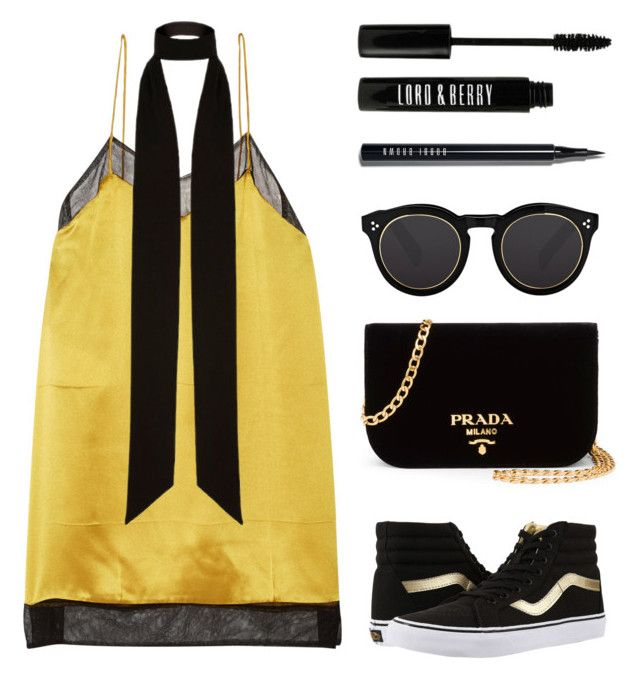 """""""Casual chic !"""" by baludna ❤ liked on Polyvore featuring Gucci, River Island, Prada, Vans, Illesteva, Lord & Berry and Bobbi Brown Cosmetics"""