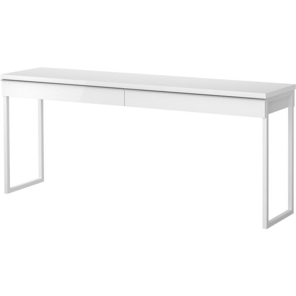 IKEA BESTÅ BURS Desk, High Gloss White (370 AUD) Via Polyvore Featuring Home