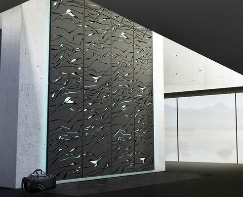 32 besten Latest interior materials Bilder auf Pinterest - futuristische buro einrichtung mit metall 3d wandpaneelen