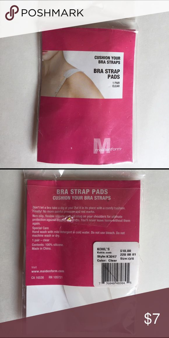New with tags BRA STRAP PADS 1 pair clear New with tags MAIDENFORM BRA STRAP PADS 1 pair clear. Cushion your bra straps Intimates & Sleepwear