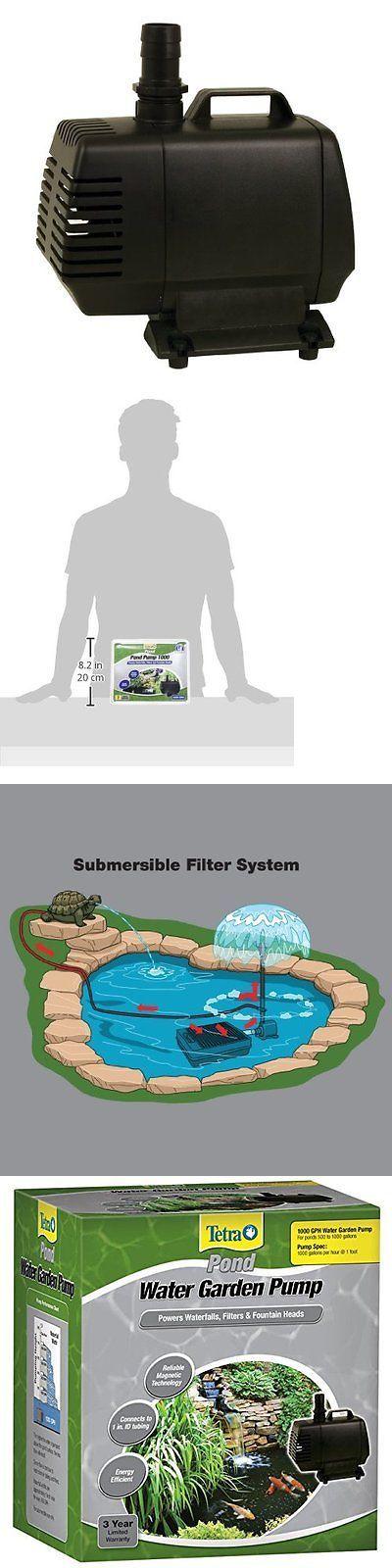 Fish Pond Supplies 134750: Tetra Pond Water Garden Pump 1000 Gph Koi Pond Pump BUY IT NOW ONLY: $77.29