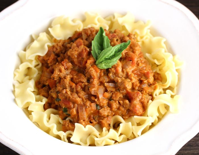 vegan and gluten free bolognese