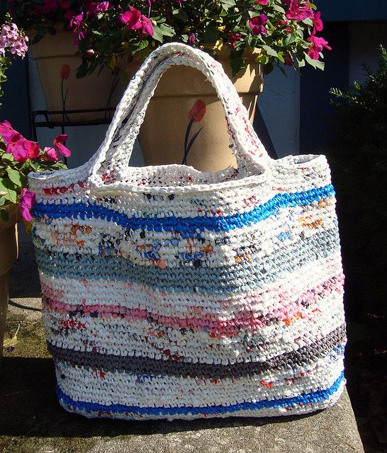Plarn Tote Bag Crochet Projects Pinterest Shopping