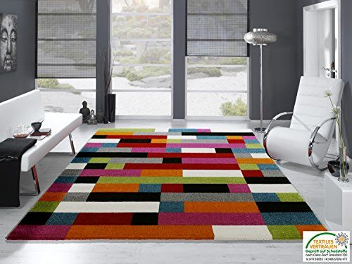 Artwork puzzle moderner designer teppich bunt in multicol https www