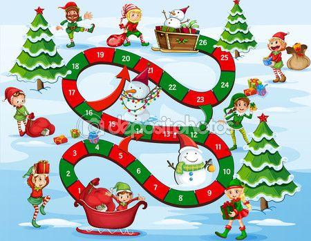 Boże Narodzenie gra planszowa — Ilustracja stockowa #58548085