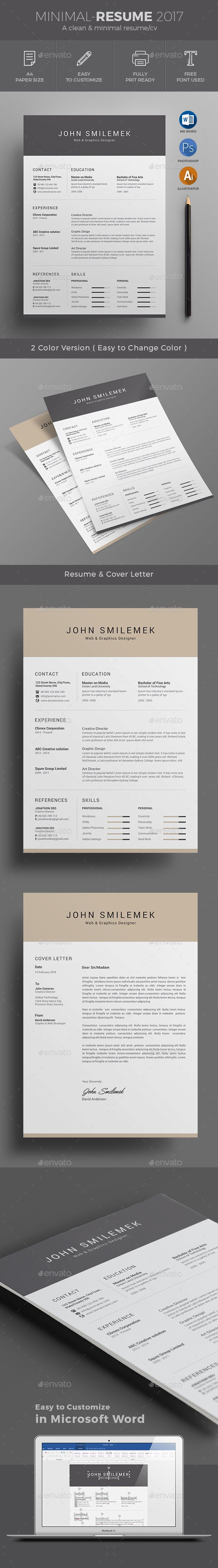 25 best ideas about Professional resume design – Cv Word Format