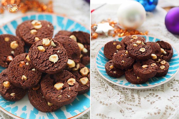 Пряное шоколадное печенье с фундуком - Spicy chocolate cookies with hazelnuts