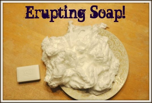 Science Experiments - How To Make Erupting Soap.  If you think those eruptions caused by baking soda and vinegar are cool, then you're going to love this one!