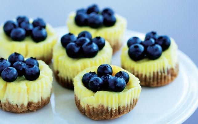 Minicheesecake med blåbær