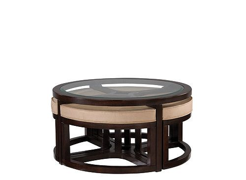 Juniper glass coffee table and ottomans coffee tables for Furniture tipoi design