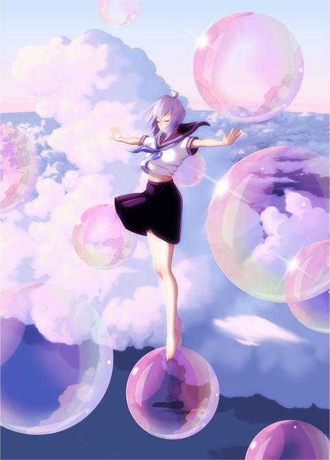 Wenn ich Seifenblasen sehe würde ich am liebsten mit fliegen