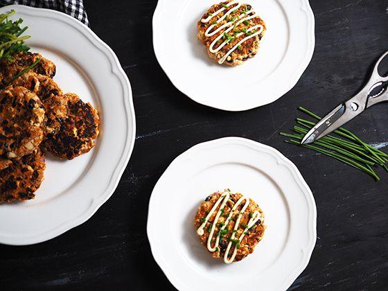 Tofu, Blackbean & Mushroom Patties! The ultimate vegan BBQ companion.
