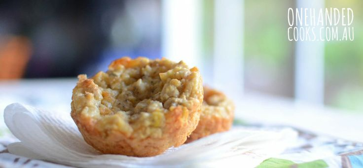 Cheesy Corn and Carrot Muffins - One Handed Cooks