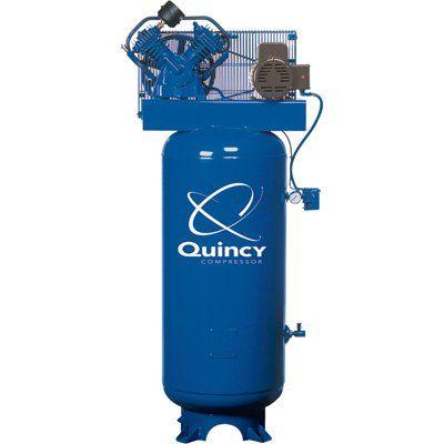 - Quincy QT-54 Splash Lubricated Reciprocating Air Compressor - 5 HP, 230 Volt, 1 Phase, 60-Gallon Vertical, Model# 2V41C60VC >>> ADDITIONAL INFO @ http://www.laminatepanel.com/store/quincy-qt-54-splash-lubricated-reciprocating-air-compressor-5-hp-230-volt-1-phase-60-gallon-vertical-model-2v41c60vc/?a=1966