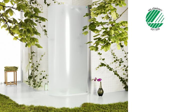 Världens första Svanenmärkta duschvägg. Från INR.