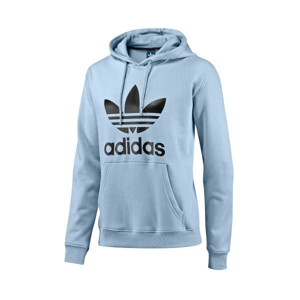 adidas - Trefoil Hoodie - Long Sleeve Shirts (63 BRL) ❤ liked on Polyvore featuring tops, hoodies, sweaters, hooded sweatshirt, long-sleeve shirt, adidas trefoil hoodie, long sleeve hooded sweatshirt and hooded pullover