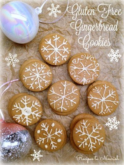 Gluten Free Gingerbread Cookies ... delicious, soft + chewy cookies, perfect for the holidays! Recipe similar to the nostalgic cookie from The Nut Tree. | Recipes to Nourish