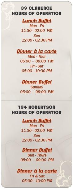 Haveli, Indian restaurant. 39 Clarence.