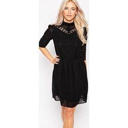 Oasis - Vestito con decorazioni vittoriane - Nero asos neri alto