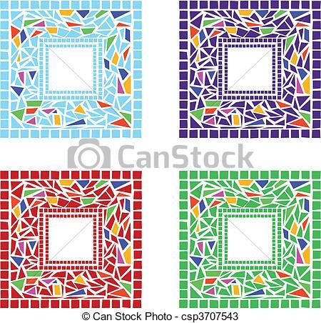 Vector - mosaico, marcos - stock de ilustracion, ilustracion libre de, stock de iconos de clip art, logo, arte lineal, retrato de EPS, Retratos, gráficos, dibujos gráficos, dibujos, imágenes vectoriales, trabajo artístico, Arte Vectorial en EPS