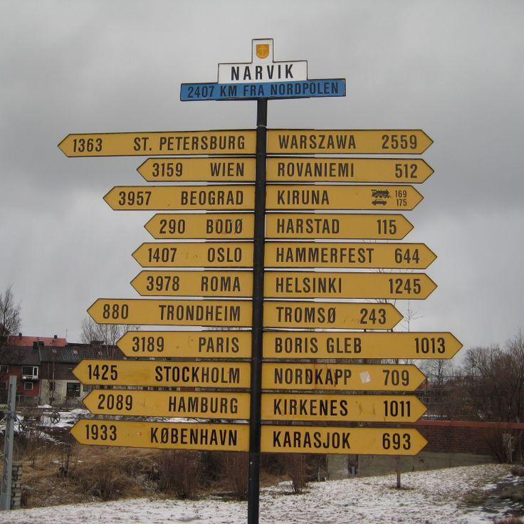 Narvik sign post