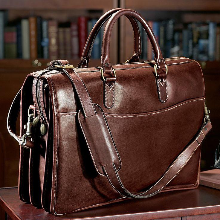 Cambridge Briefbag - Leather Briefcase, Men's Briefcase - Levenger