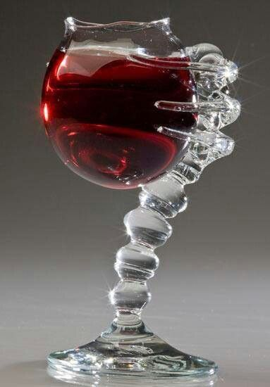 spine and heart wine goblet