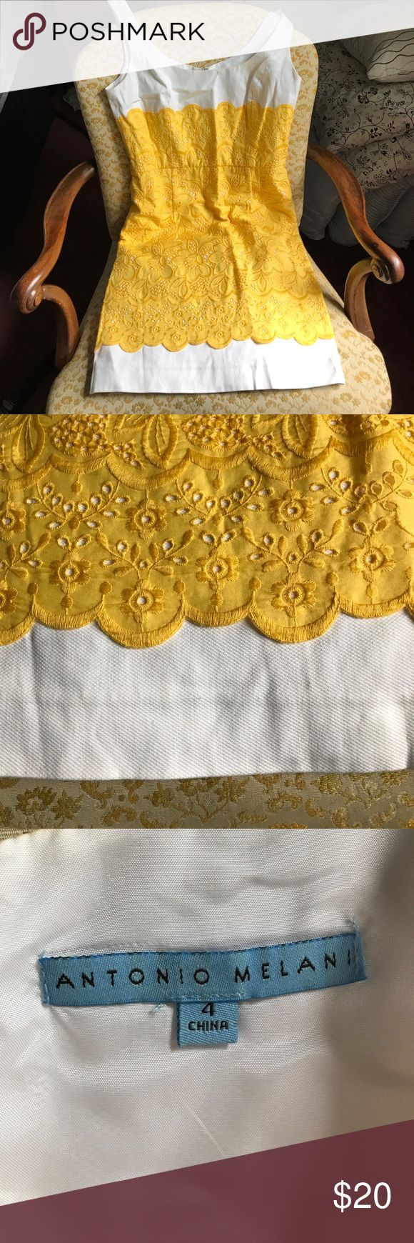 Antonio Melani yellow and white low-back dress 👗 Antonio Melani yellow and white low-back dress 👗 ANTONIO MELANI Dresses