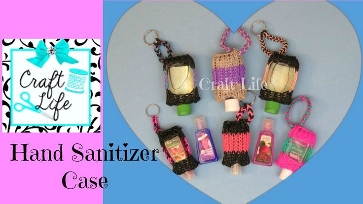 Hand Sanitizer Case Rainbow Loom How-to Video Tutorial by Craft Life
