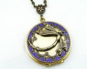 Dragonfly Resin Locket Art Deco Style  Saltbird 1 Jewellery (etsy)