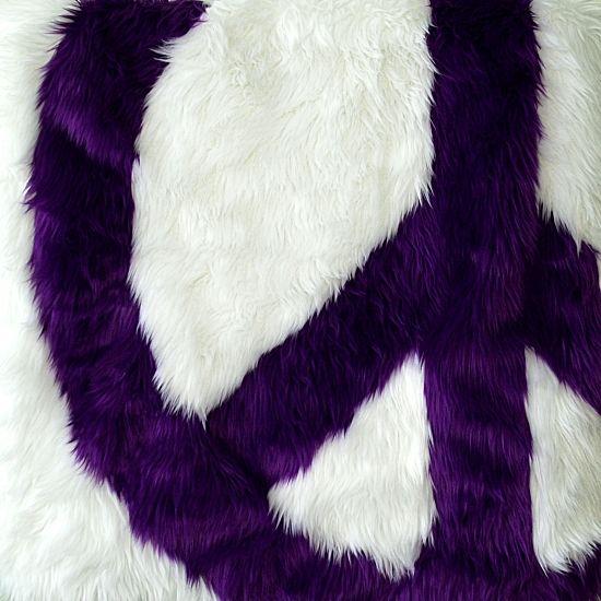 Purple Peace Sign Shag Rug? Finally A Rug Roley Would Love!