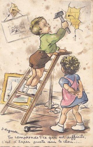 illustr.quenalbertini: Vintage Germaine Bouret Card