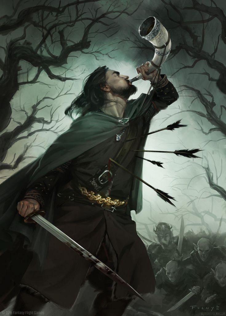 Valour needs first strength, and then a weapon. – Boromir Artist: Aurore Folny