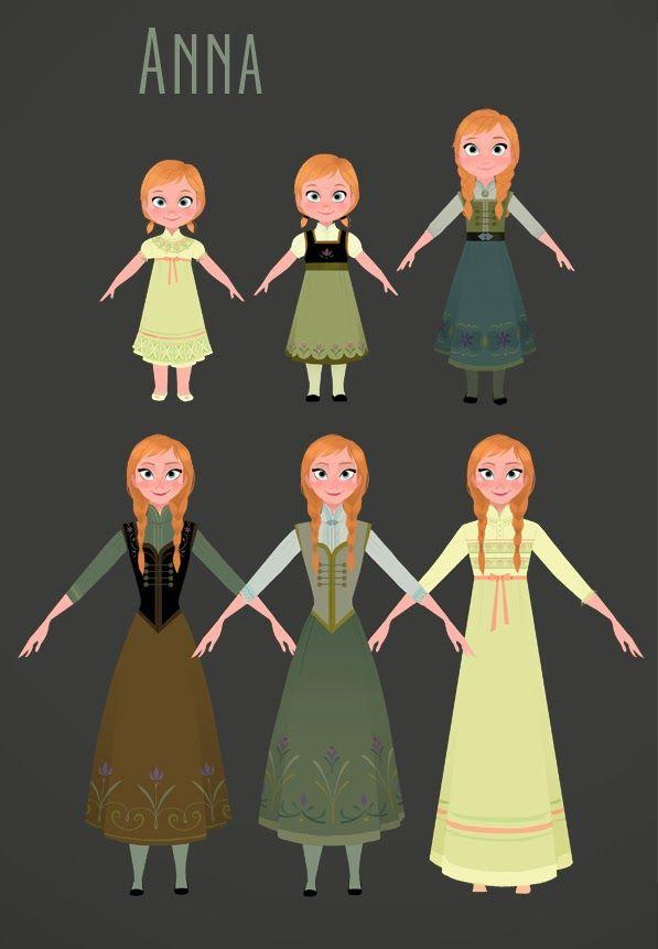 Brittney Lee: Frozen - Costume Design.  Anna.