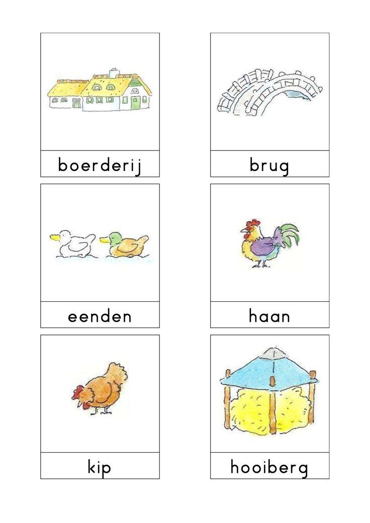 Woordkaarten Bas 'De boerderij' 1