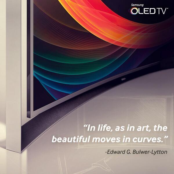 Samsung curve OLED Television Via Twitter   Samsung ...