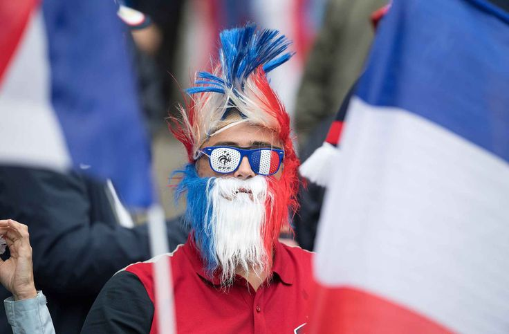 France's fan attends the quarterfinal soccer match between France and Iceland at the Stade de France in Saint-Denis, north of Paris, FRANCE-03/07/16 //NIVIERE_0068NIV/Credit:NIVIERE/SIPA/1607040249