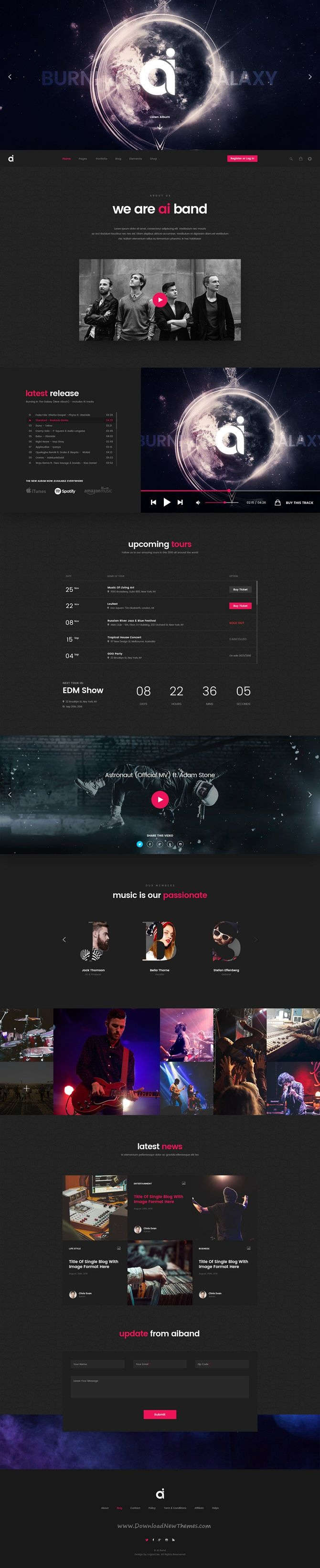 AI is a clean and trendy PSD Template designed for #music #artists #band stunning website with 19 multipurpose homepage layouts and 53 organized PSD pages with Grid-Based Approach download now➩ https://themeforest.net/item/ai-creative-multipurpose-psd-template/19509331?ref=Datasata