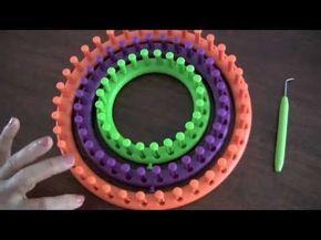 Telar redondo: técnica básica y como cerrar para que quede abierto (para cuellos) o cerrado (para gorros)