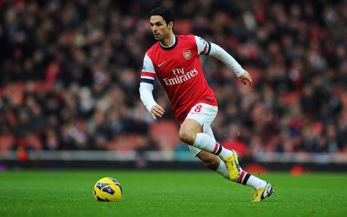 Télécharger fonds d'écran Mikel Arteta, les footballeurs, les Arsenal FC, match de Premier League