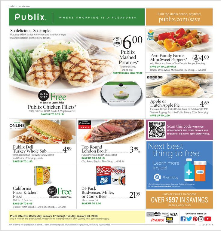Publix Weekly Ad January 17 - 23, 2018 - http://www.olcatalog.com/grocery/publix-weekly-ad.html
