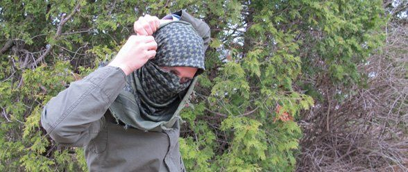 How to Tie a Military-Style Shemagh/Keffiyeh by Creek Stewart