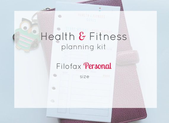#health and #fitness #planner #filofax #personal #size #inserts Price €7.50  #instant #download
